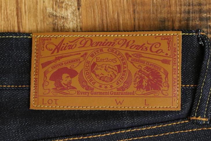 オリジナルジーンズの革パッチ