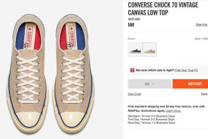 CONVERSE CHUCK 70 VINTAGE CANVAS ct70
