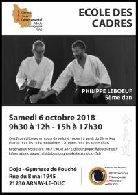 Stage École des Cadres samedi 6 octobre à Arnay-Le-Duc