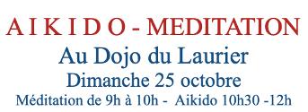 Dimanche 25  Octobre –  session au Dojo du Laurier