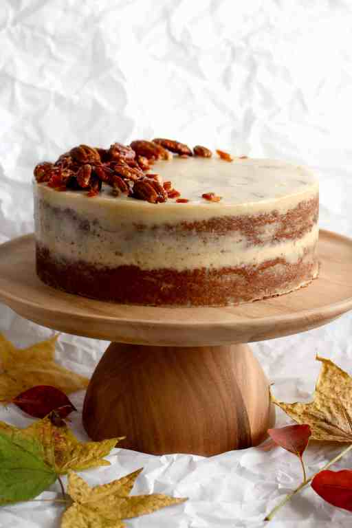 Incredible Sweet Potato Cake With Maple Cashew Frosting Ai Made It For You Personalised Birthday Cards Veneteletsinfo