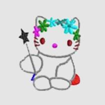 Embroidery Digitizing-Kitty