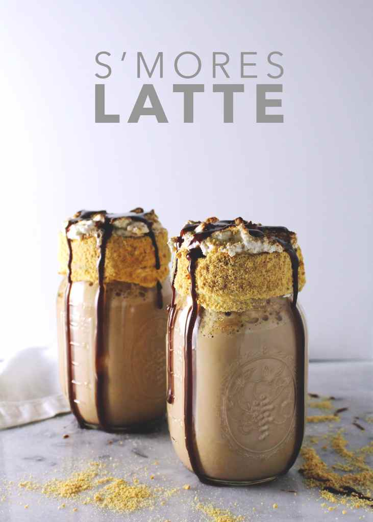 This rich, decadent, dreamy latte is perfect for summer sipping when your morning needs a little indulgence and a whole lotta s'mores | via @AimeeMarsLiving | #S'mores #Latte #espresso