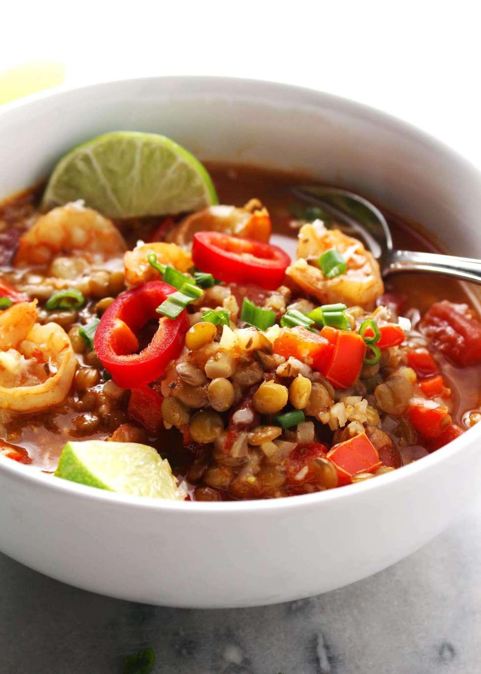 Instant-Pot-Shrimp-and-Lentil-Stew-5