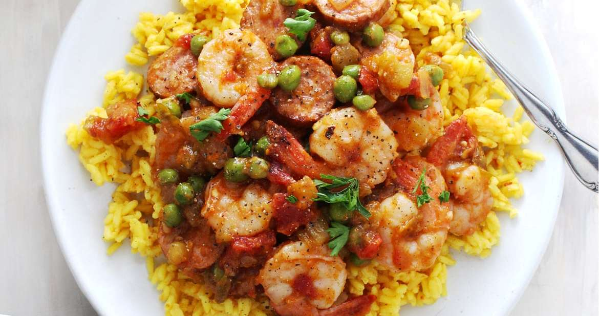 Shrimp and Sausage Spanish Rice | Aimee Mars | The Dinner Chef