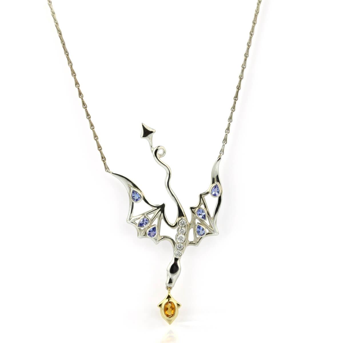 Smog The Silver 18ct Gold Tanzanite Amp Diamond Dragon