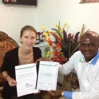 Fin de séjour de la stagiaire allemande Veronika GEBRAHT à AIMES-AFRIQUE