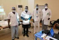 AIMES-AFRIQUE Sénégal offre des visières de protection faciale à ses membres et au personnel médical