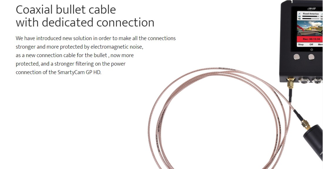 Coaxial bullet cable with dedicated connection