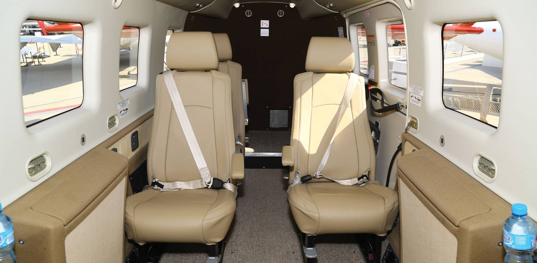 Kodiak Here with Executive Cabin Interior   Business Aviation News     The external cargo pod and oversize utility tires do little to suggest the  Kodiak s Summit executive interior with reclining seats and folding tables