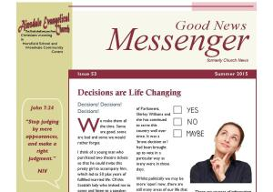 Messenger Newsletter 53 Summer 2015