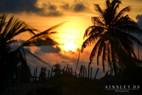 Sunset in Ghana. Photography travel Ainsley about the world