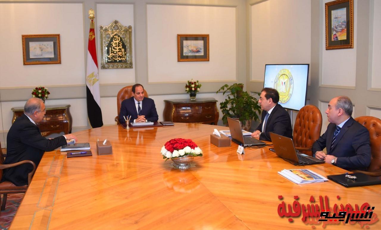 الرئيس السيسى يجتمع مع رئيس مجلس الوزراء و وزير البترول