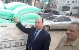 ضبط سيارة محملة ٦٠جوال دقيق مدعم قبل تهريبه بالسوق السوداء