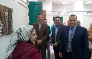 مدير عام ثقافة الشرقية يفتتح معرض الفنانة غادة شعيب