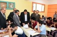 محافظ الشرقية يتفقد لجان إمتحانات نهاية العام للصف الأول الثانوى بالزقازيق