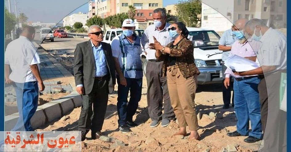 متابعة ميدانية لخطة تطوير وتجميل مدينة طور سيناء
