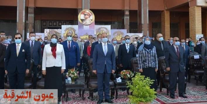 جامعة الزقازيق تحتفل ببدء العام الدراسي الجديد.. وإستقبال الطلاب القدامى والجدد