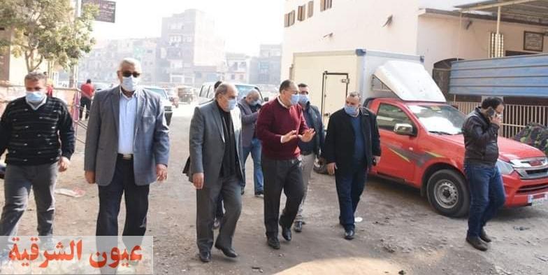 محافظ الشرقية يتفقد منطقة الجمباز بمدينة الزقازيق