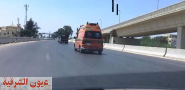 إصابة 6 سيدات فى حادث إنقلاب توك توك بطريق إهناسيا بنى سويف