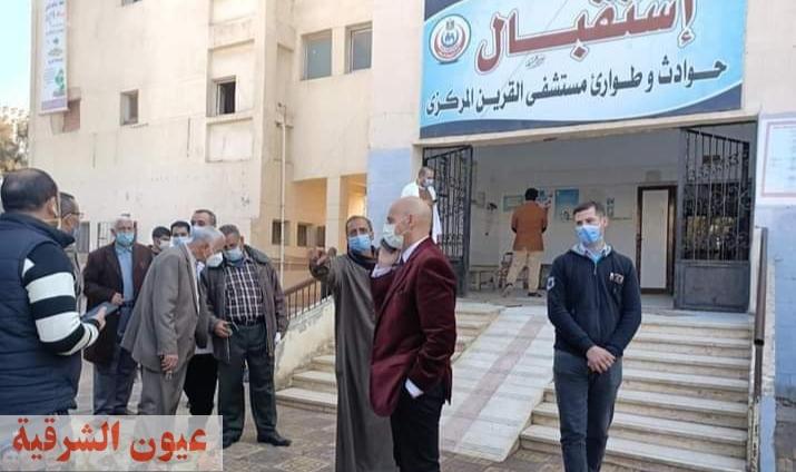 وكيل وزارة الصحة بالشرقية يتفقد سير العمل بمستشفيات أبوحماد والقرين المركزي