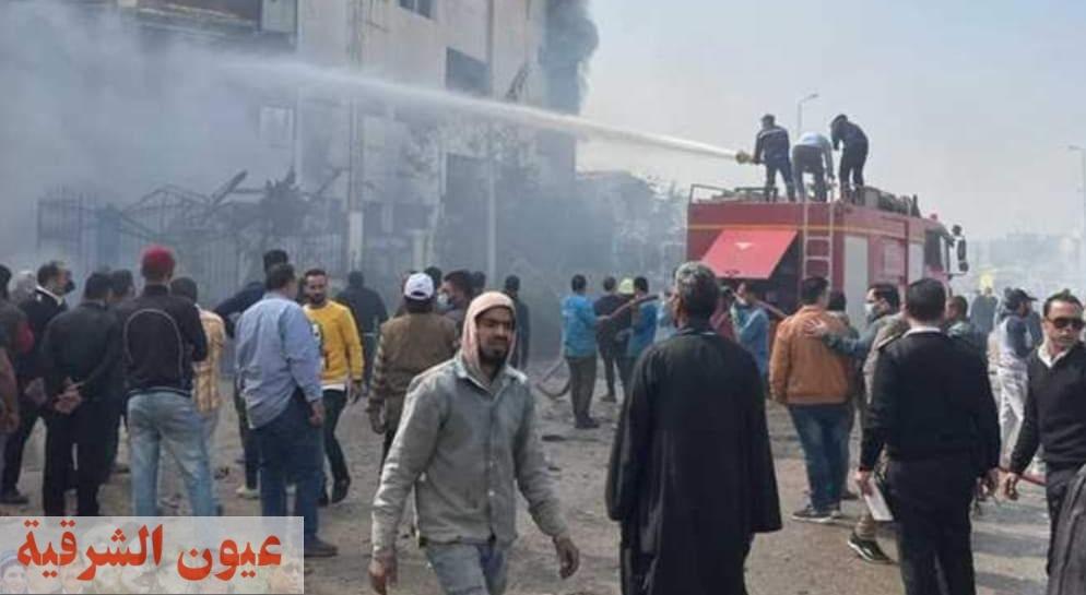 الشرقية تودع 7 من أبنائها ضحايا حريق مصنع العبور