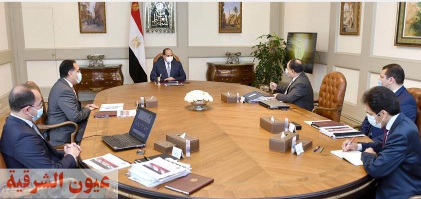 الرئيس عبد الفتاح السيسي يطلع على مشروع موازنة العام المالي ٢٠٢١ - ٢٠٢٢.. ويوجه بزيادة مرتبات العاملين بالدولة
