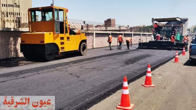 رصف طريق خليج أبو حاكم بمركز الزقازيق بتكلفة 3 مليون جنيه