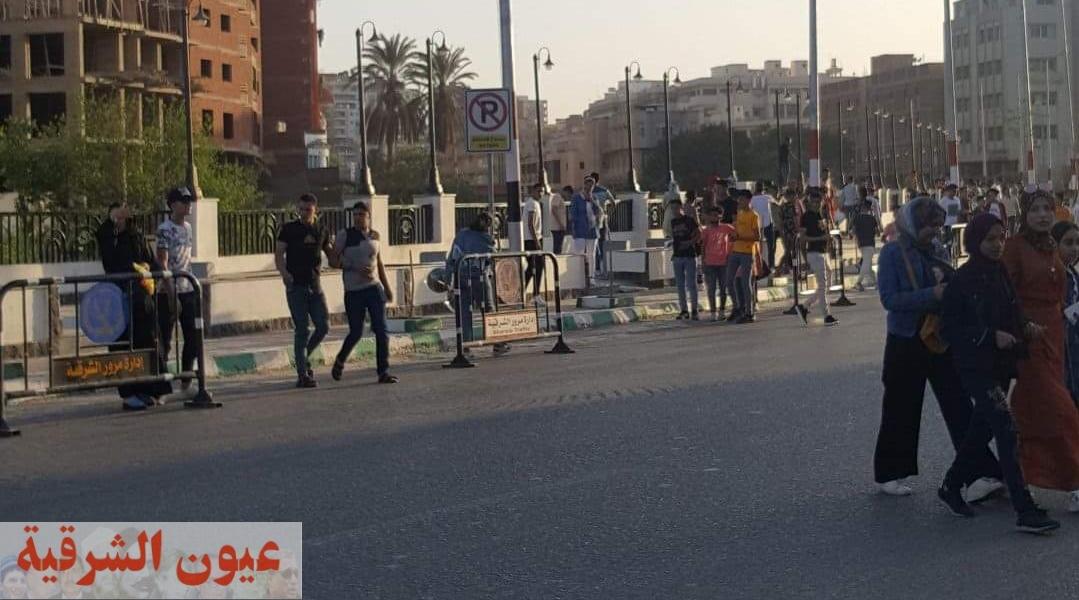 كورنيش الزقازيق بديل الحدائق والمتنزهات العامة خلال إجازة عيد الفطر