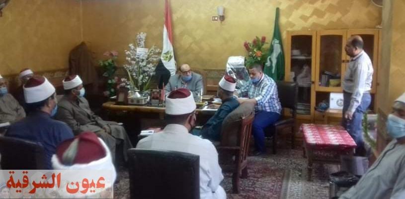 وكيل وزارة الأوقاف بالشرقية يعيد هيكلة قسم المتابعة..ويوجه بتكثيف المرور على المساجد