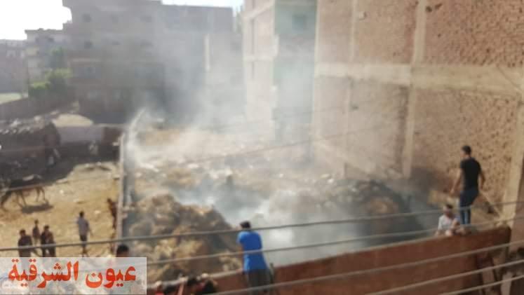 نشوب حريق بمعلف مواشي بقرية بني عامر يخرج عن سيطرة الأهالي
