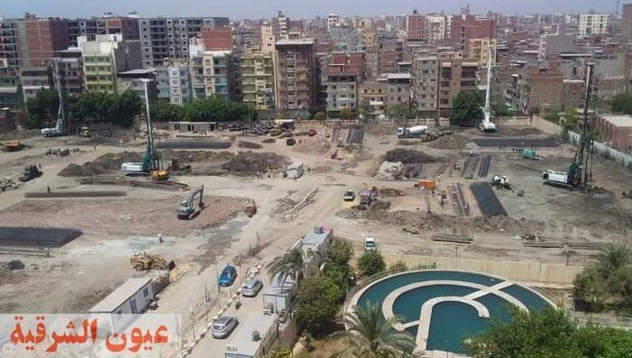 متابعة الأعمال الجاري تنفيذها مشروع الأبراج السكنية بنطاق حي شرق المنصورة