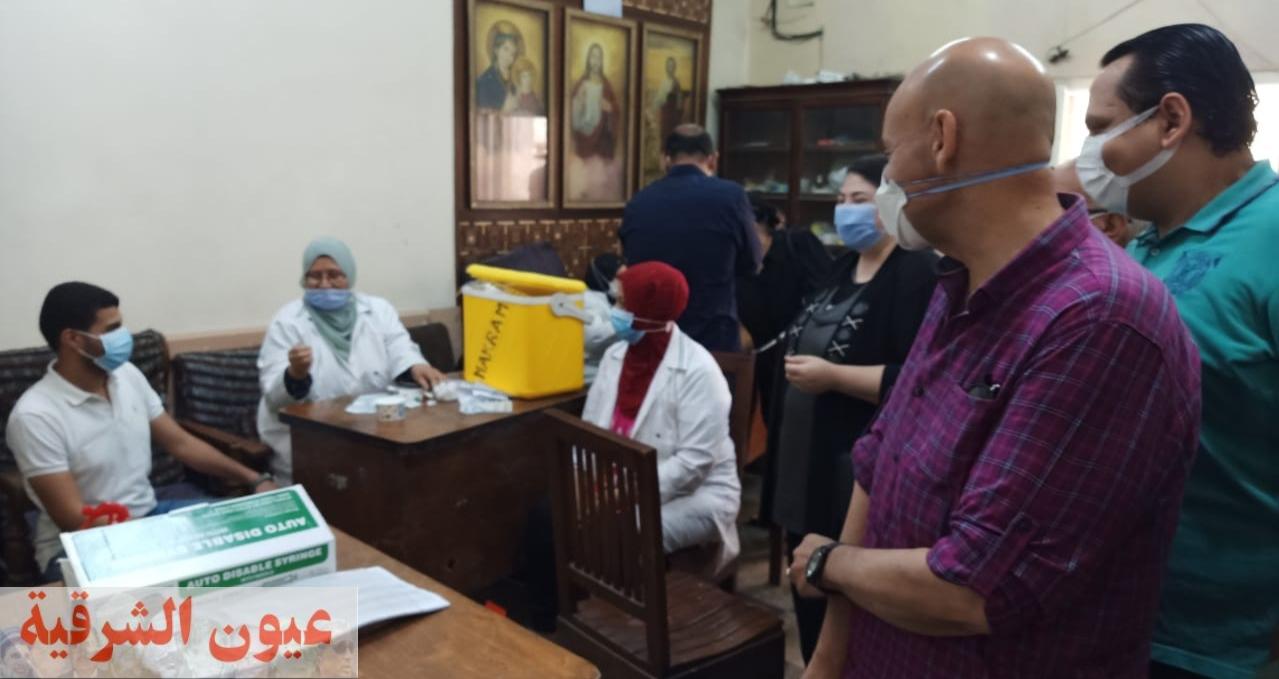 وكيل وزارة الصحة بالشرقية يتابع تطعيم الإخوة الأقباط بالجرعة الثانية من لقاح كورونا بجمعية نهضة الشباب القبطي الأرثوذكسي بالزقازيق
