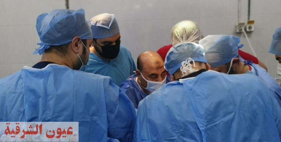 إجراء عمليات جراحية دقيقة وذات مهارة عاجلة لأول مره بمستشفي منيا القمح منها جراحة بالوجه والفكين
