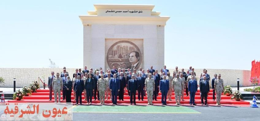 الرئيس السيسي يفتتح عدداً من المشروعات القومية لتنمية شبه جزيرة سيناء