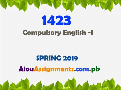 1423 Solved Assignment Spring 2019   AiouAssignments.com.pk