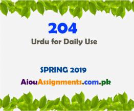 204 urdu for daily use spring 2019