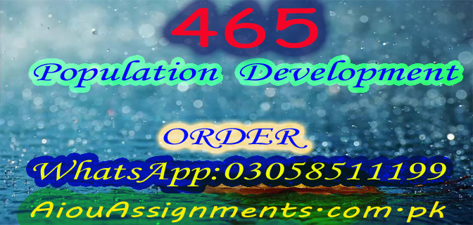 465 Population  Development BA Spring 2019