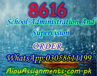 8616 School Administration And Supervision Bed Spring 2019