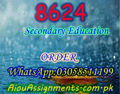 8624 Secondary Education Bed Spring 2019