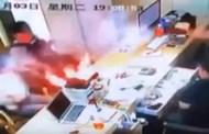 فيديو يرصد لحظة انفجار