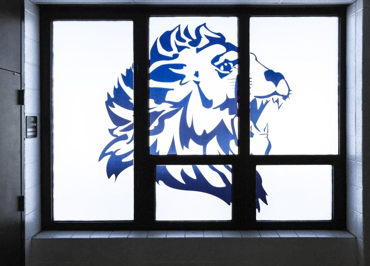 Lisle High School Frosted window vinyl