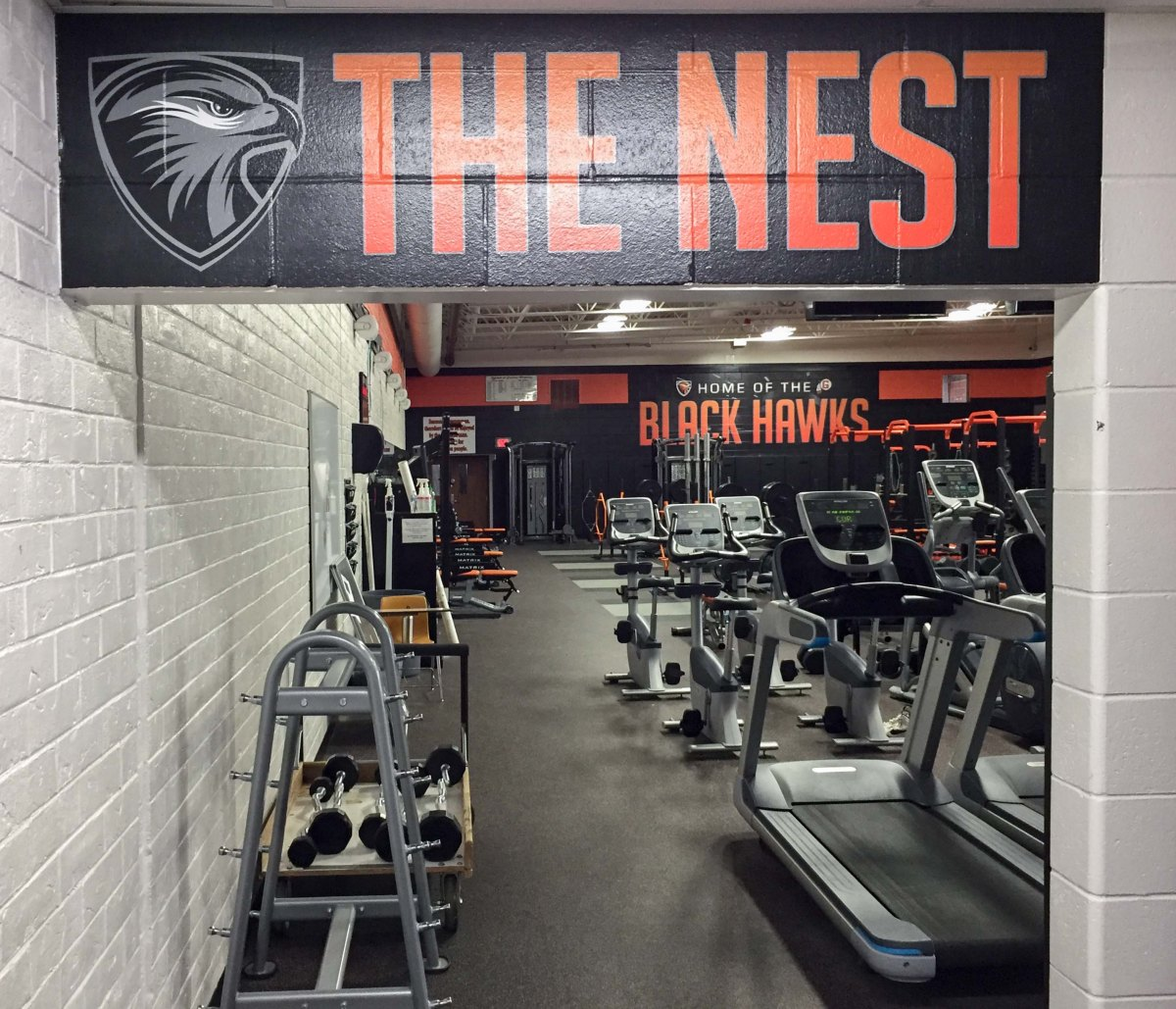 Grafton Fitness Center wall mural