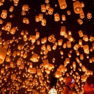 lanterne lumineuse ciel