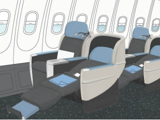 Air journal Siege lie flat 320x240 La (nouvelle) Compagnie : offre low cost Affaires entre Paris et New York