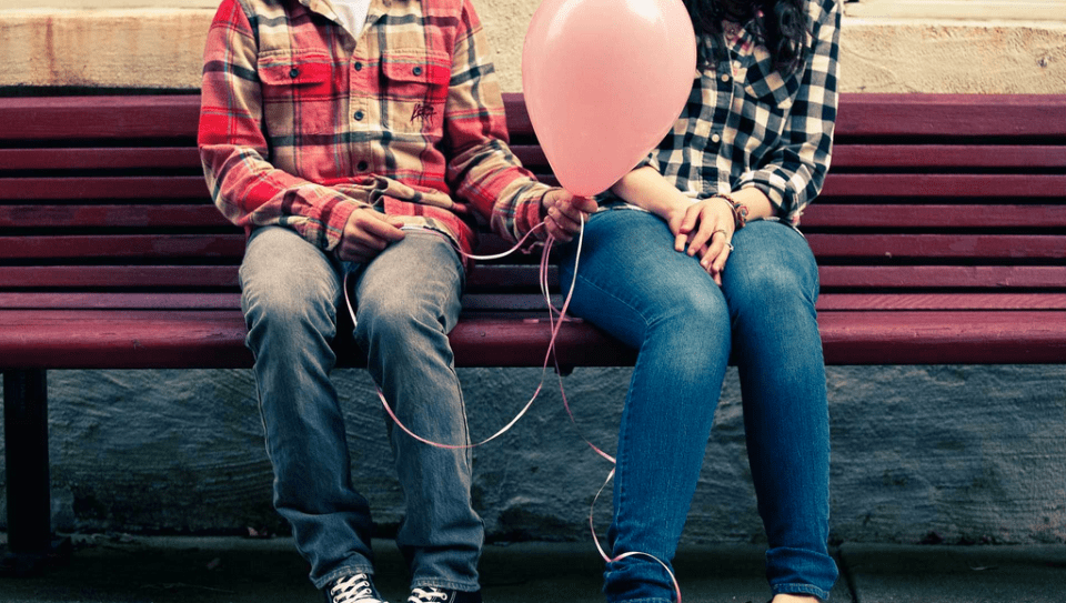 """Latest Love Couple Sitting on Bench with Ballon Photos."" Desktop Best Wallpapers RSS. Best Wallpaper, 16 Dec. 2014. Web. 16 Feb. 2016"