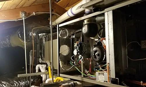 San Jose Furnace Repair in Attic