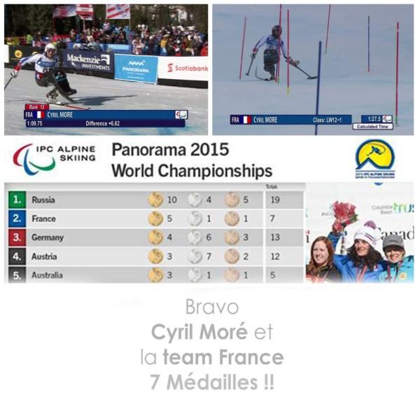 Equipe de france coupe du monde IPC 2015 ski alpin recap cyril more