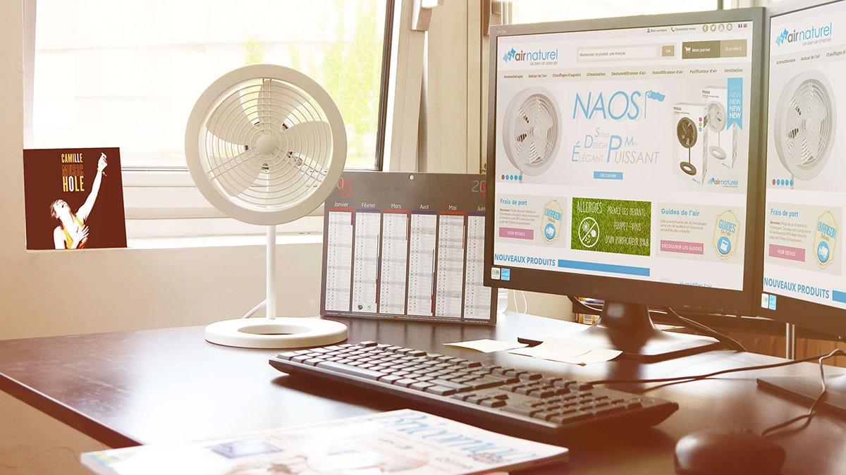 Naos_Blanc_Ventilateur Design_Bureau
