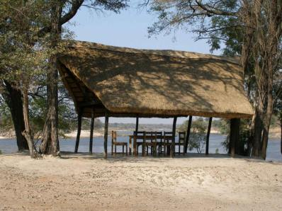The Lounge at Sioma River Camp